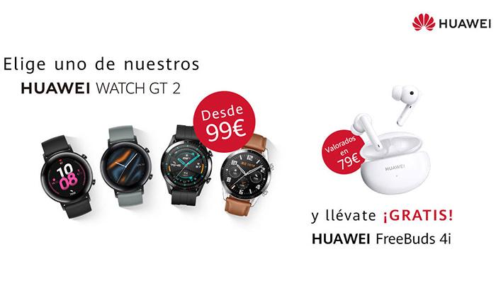 Vuelve a tu rutina deportiva con la Serie Huawei Watch GT 2, ahora acompañada de los auriculares Huawei FreeBuds 4i